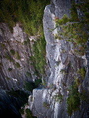 Another View of the Crux Pitch (Karsten Klawitter) Tags: britishcolumbia chief august adventure climbing granite rockclimbing epic squamish thechief trad squamishchief stawamuschief seatosky 2011 angelscrest 510b leadclimbing