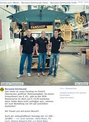 Via Facebook: Aktion zur Eröffnung des BVB-Fanshops im Centro Oberhausen