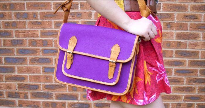 violet satchel