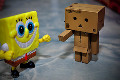 Danbo meet Spongebob:)) ((c)mharski perez) Tags: revoltech danboard