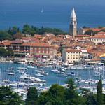The old Mediterranean town of Izola