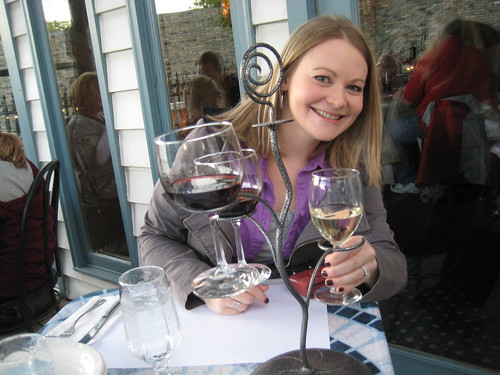 Lisa with wine flight