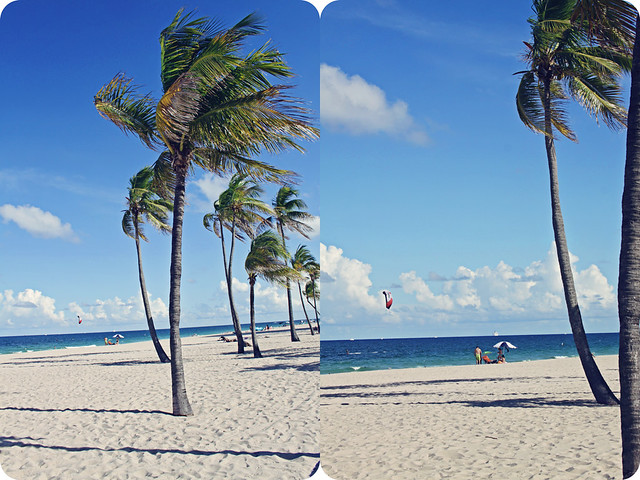 Fort Lauderdale beach diptych 1