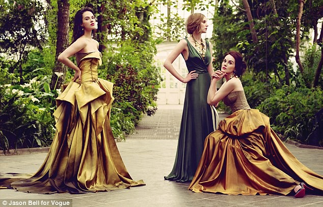 downton abbey jessica brownfindlay laura carmichael michelle dockery