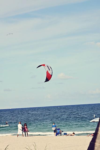 Fort Lauderdale beach kitesurfer 7