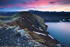 Crater Hnausapollur, highlands of Iceland (skarpi - www.skarpi.is) Tags: travel wild mountain lake black pool sunrise river island photography iceland highlands fishing sand colours hiking hike crater flyfishing traveling wilderness trout geothermal patel sland browntrout landmannalaugar laugar ljotipollur hlendi hlendi ljtipollur pollur skarpi tungna ggur uglypool travelingiceland skarphedinnthrainsson
