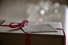 Present. (MichaelJFoy) Tags: pink white aperture nikon soft bokeh box label sparkle present 18105 d90