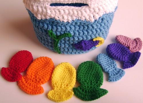 "Made to Order Rainbow Counting Fishies with carrying ""bowl"""