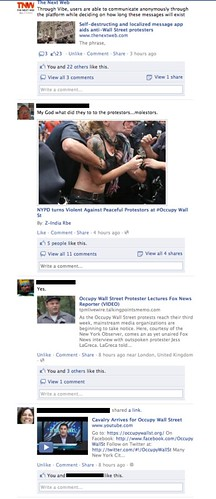 Another Facebook #OccupyWallStreet Screenshot