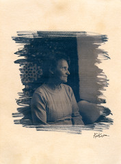 (artur sikora) Tags: portrait watercolor tea alt poland scan blueprint alternative cyanotype alternativeprint teatoned artursikora photographerdublin wwwartursikoracom altpprocess