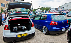 2 Dropped MK5's (Adam Kennedy Photography) Tags: show summer adam car vw golf volkswagen manchester bash nikon oz awesome wheels plush split gti rims kennedy alloys futura detailed unphased mk5 airsuspension d7000