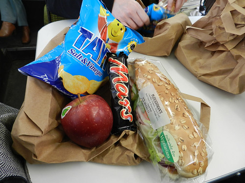 Extras' lunch - devastating.. no hot meal :O