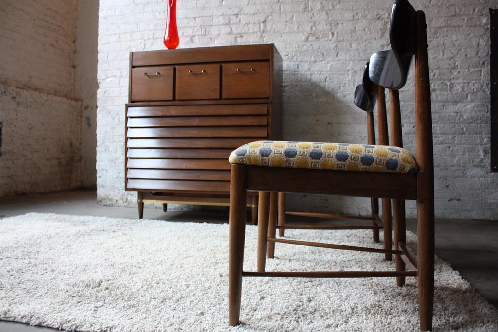 Extraordinary American of Martinsville Tall Walnut Dresser (Dania Collection 1963)
