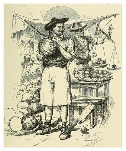 019-Vendedor de frutas en Alicante-Spanish vistas-1883- George Parsons Lathrop