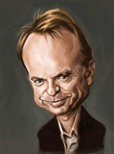 digital caricature of Sam Neill - 3