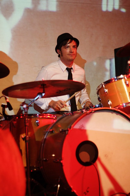 sam on drums