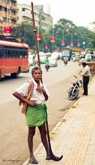 Day 3 (Project 365) (Sagar N Iyer) Tags: road portrait india man project 50mm nikon sheep shepherd stick 365 f18 pune abigfave d5000 sagariyer