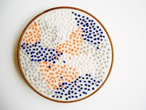 Pointillism Embroidery Hoop Art by whatnomints