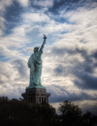 Behind Lady Liberty by Thomas Gehrke