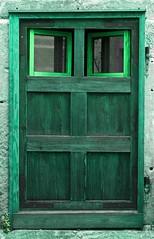 """The """"eyes"""" of a door (KF-Photo) Tags: door eingang grn tor augen tr entry tbingen"""