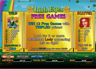 free Irish Eyes slot mini symbol