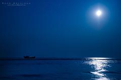 """""""The Rime of the Ancient Mariner"""" [[[EXPLORED]]] (Saad Solaiman) Tags: ocean blue light sea moon water gold ancient aqua arts explore moonlit taylor cox land moonlight bazaar rime saad scape sa"""