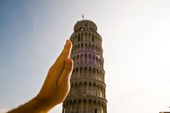 Italia 2011 - Pisa - Giving It a Push - 10-06-11 (mosley.brian) Tags: italy italia hand pisa leaningtower forcedperspective leaningtowerofpisa italia2011