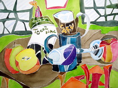 """""""Cubist art"""" 02 - homage to Barry Coombs, by Catie (Dona Mincia) Tags: stilllife food art window"""