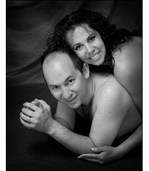 Romantic couples boudoir photography.