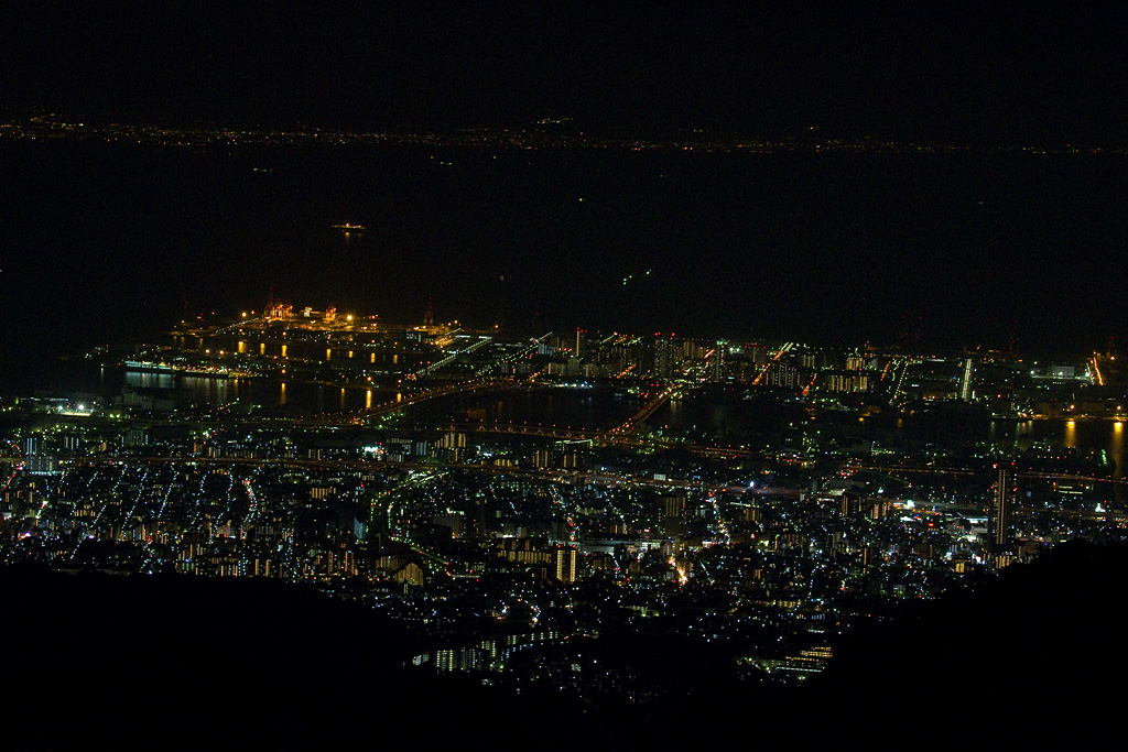 night view of Rokkou Island, Kobe City
