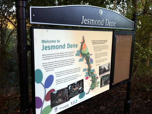 Jesmond Dene interpretation board