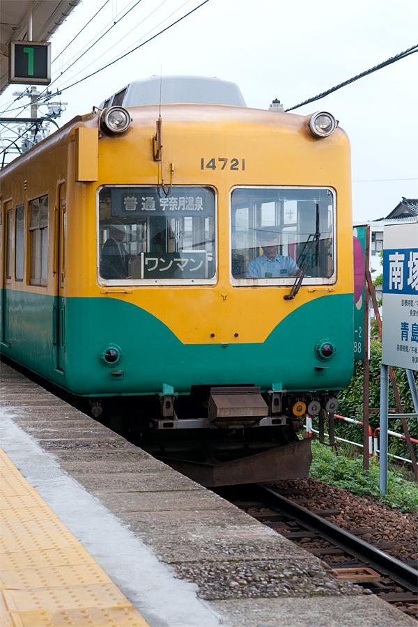 ワンマン列車|滑川駅
