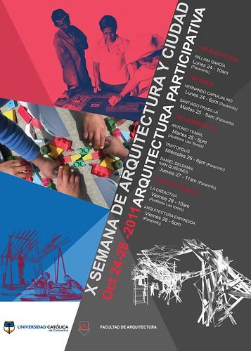 Conferencia en la x Semana de Arquitectura y Ciudad. Universidad Católica de Colombia