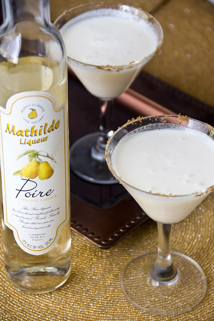 Pear Almond Crisp Martini
