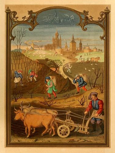 004-Santoral de Marzo-Lamina-Les évangiles des dimanches et fêtes de l'année –Vol 1- 1864- Leon Curmer