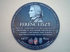 Photo of Franz Liszt blue plaque