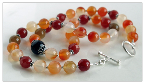 Carnelian & Agate necklace