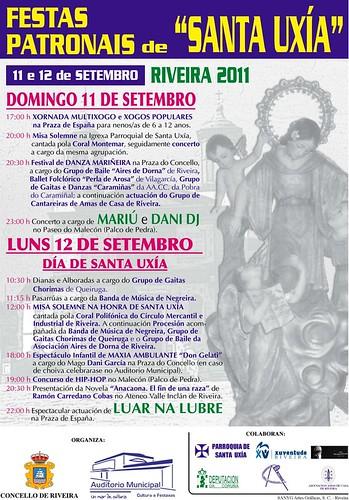 Ribeira 2011 - Festas de Santa Uxía - cartel