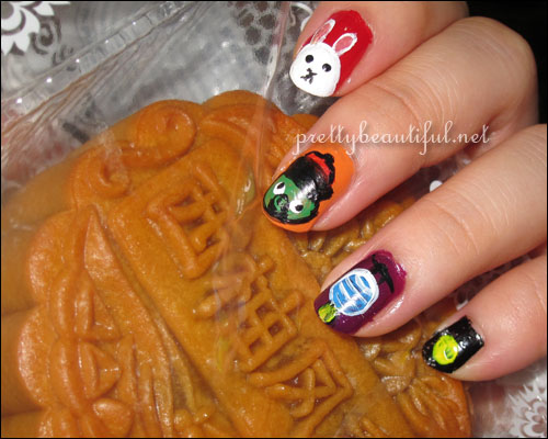Angry Birds Mooncake Festival Nail Art