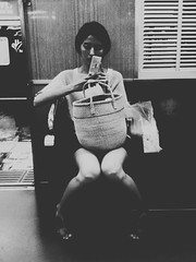Check her feet (red64) Tags: apple train women sitting app umeda hankyu iphone psexpress iphoneography exif:height=2048 eyeem exif:width=1536