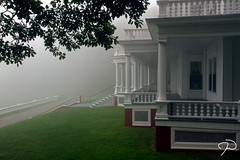 Cone Manor in the Fog 01 (Jim Dollar) Tags: canon nc blueridgeparkway conemanor jimdollar flattopmanor moseshconememorialpark