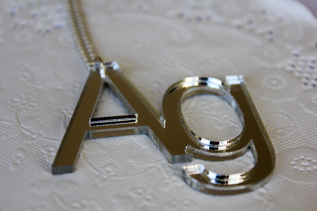 Silver Mirror Ag Necklace