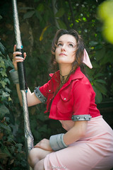 Final Fantasy 7 - Cosplay - (Omarukai) Tags: costumes game girl cosplay awesome rpg ff7 aeris ffvii aerith finalfantasy7 aerisgainsborough tifalockheart aerithgainsborough adventchildrentifa