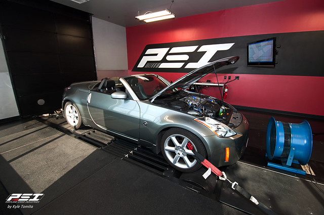 GReddy twin-turbo 350Z converible on the dyno at PSI.jpg