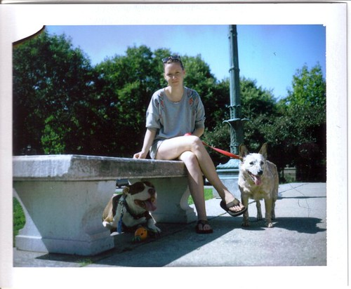 Me and the Doggies at the Monument