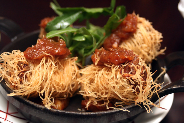 Spicy Duck Kataifi with Date Chutney