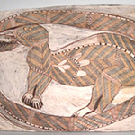 "<b>Anteater Bitten by Snake</b><br/> Namirrki ""Anteater Bitten by Snake"" Painting, ca. 1950-1970 LFAC #2004:06:07<a href=""//farm7.static.flickr.com/6170/6147156799_af80e0a778_o.jpg"" title=""High res"">∝</a>"