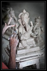 The Making of Lord Ganesha - 2 (Tilak Haria) Tags: india art festival artist clay idol maharashtra mumbai lordganesha ganeshchaturthi pratibimbsangli idolmaking clayidol