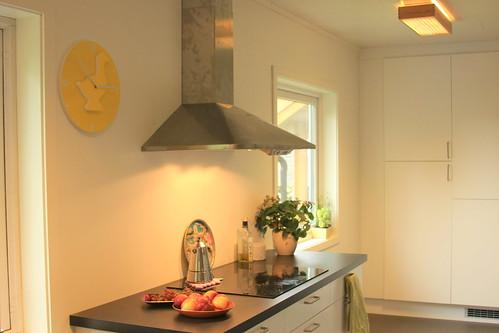 Kitchen with beloved clock