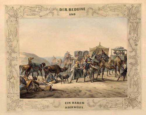 009-Un harem beduino en el desierto-Malerische Ansichten aus dem Orient-1839-1840- Heinrich von Mayr-© Bayerische Staatsbibliothek